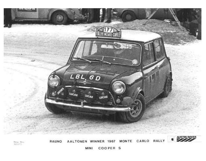 1967 Monte Carlo Rallye Winning Mini Cooper